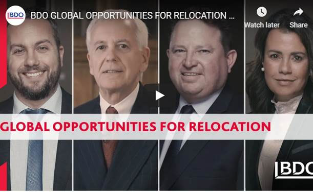 BDO GLOBAL OPPORTUNITIES FOR RELOCATION 2018