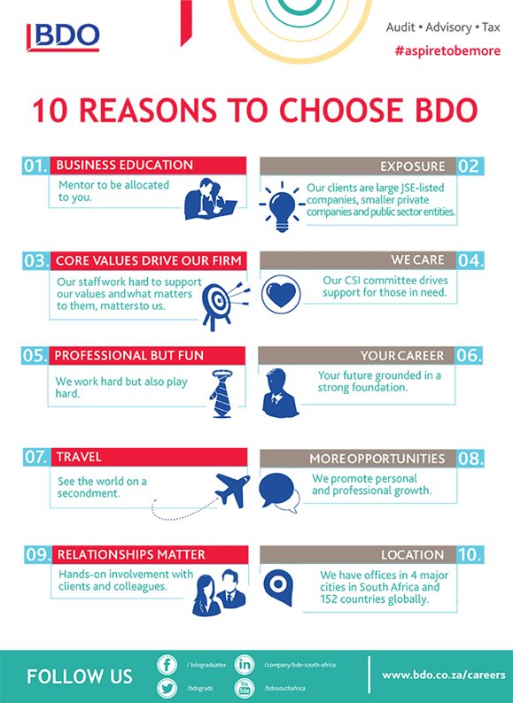 10 Reasons to Choose BDO